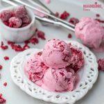 Inghetata de zmeura si mascarpone / Raspberry mascarpone ice cream
