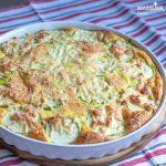 Tarta rustica cu dovlecei / Zucchini crustless tart