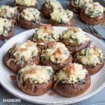 Ciuperci umplute cu spanac si branza / Spinach cheese stuffed mushrooms