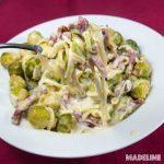 Paste de dovlecei cu varza de Bruxelles / Brussels sprouts courgette pasta