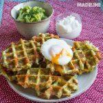 Gaufre cu broccoli si branza / Broccoli cheese waffles