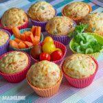 Briose aperitiv cu legume / Savory veggie muffins