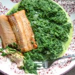 Spanac cremos cu somon / Creamy spinach with salmon