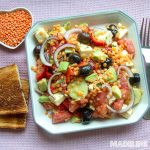 Salata greceasca de linte / Lentil Greek salad