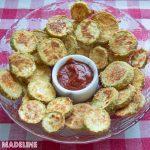 Chipsuri de dovlecei cu parmezan / Parmesan zucchini chips