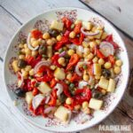 Salata de naut si ardei copti / Chickpea roasted pepper salad