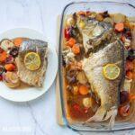 Crap cu legume la cuptor / Baked carp with veggies