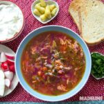 Ciorba de loboda / Red mountain spinach soup