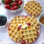 Gaufre belgiene cu vanilie / Belgian vanilla waffles