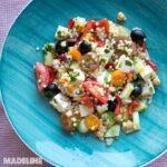 Salata mediteraneana de cuscus / Mediterranean couscous salad