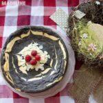 Pasca fara aluat in doua culori / Crustless black & white cheesecake