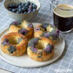 Gogosi keto cu afine / Keto blueberry donuts