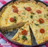 Tarta cu somon si conopida / Salmon and cauliflower tart