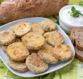 Dovlecei pane la cuptor / Baked breaded zucchini crisps