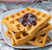 Gaufre cu cartof dulce / Sweet potato waffles