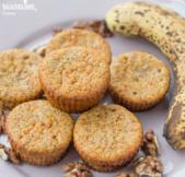 Briose cu banane si nuca / Banana walnut muffins